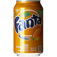 Fanta Mangue Boisson Gazeuse 350 g - Lot de 8