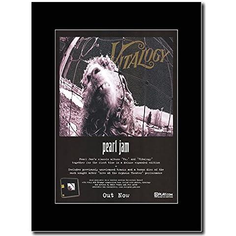 Pearl Jam 'Vs'& 'Vitalogy'Magazine Promo su un supporto, colore: (Pearl Jam Memorabilia)