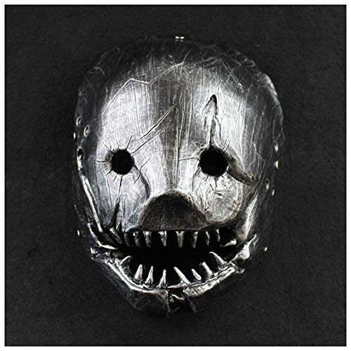 YaPin Clip Metzger Maske COS Dawn Killer Spiel Halloween Maskerade Party RPG (Color : Iron Grey)