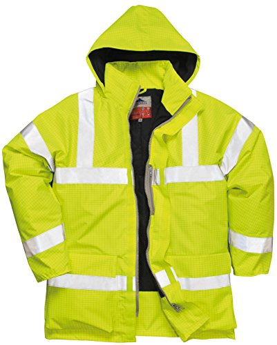 Portwest Bizflame Rain Hivis Antistatic FR Jacket - Yellow - XL