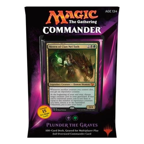 Magic - MTG Commander Deck 2015 – Plunder the graves (lila) ENGLISCH (Yu Gi Oh Karten 2015)