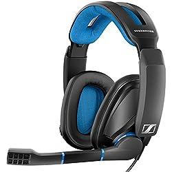 [Cable] Sennheiser GSP 300 - Microauricular cerrado para gaming, color negro y azul