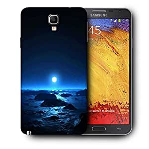 Snoogg Blue Moon Printed Protective Phone Back Case Cover For Samsung Galaxy NOTE 3 NEO / Note III