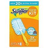 Swiffer Duster Kit Catturapolvere, 1 Manico + 5 Dry Cloths Ricambi