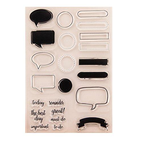 ECMQS Message DIY Transparente Briefmarke, Silikon Stempel Set, Clear Stamps, Schneiden Schablonen, Bastelei Scrapbooking-Werkzeug