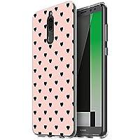 Funda Huawei Mate 10 Lite, Eouine Cárcasa Silicona 3d Suave Gel TPU Transparente con Dibujos Animales Flores Diseño [Antigolpes] de Protector Bumper Case Cover Fundas para Movil Huawei Mate 10 Lite - 5.9 Pulgadas (Pequeño amor, rosa)