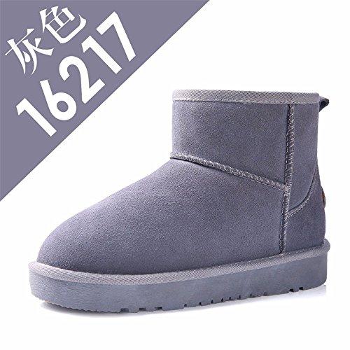 FLYRCX Winter Leisure fashion Snow Boots caldo cashmere lady con anti-skid scarpe in pelle K