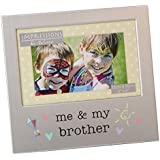 Me and My Brother Photo Frame Brushed Aluminium Juliana Collection