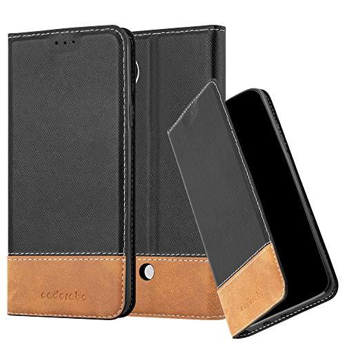 Cadorabo Funda Libro para LG Nexus 5 en Negro MARRÓN – Cubierta Proteccíon con Cierre Magnético, Tarjetero y Función de Suporte – Etui Case Cover Carcasa
