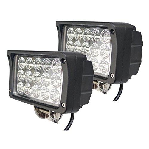 BRIGHTUM LED Arbeitsscheinwerfer weiß12V 24V Reflektor work light Scheinwerfer Arbeitslicht Offroad SUV UTV ATV Arbeitslampe - Traktor - Bagger (45W) 24 Led Work Light