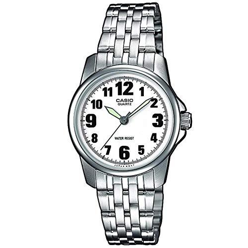 casio orologio analogico al quarzo donna con cinturino in acciaio inox ltp-1260pd-7bef