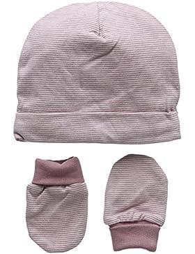 Mamas & Papas Baby - Mädchen Mütze Marl Stipe Hat & Mitts