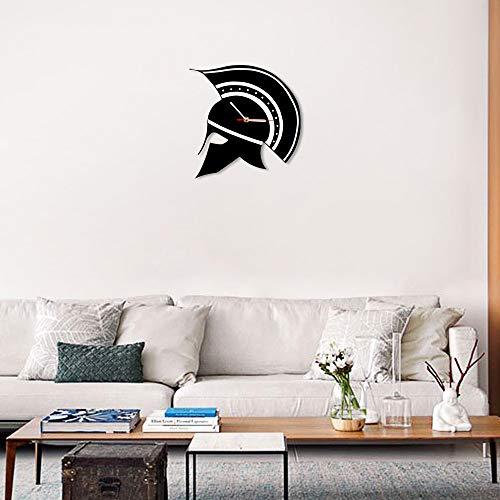 ischer Helm Silhouette Griechenland Wanduhr Maximus Gladiator Warrior Helm Dekorative Wanduhr Antiken Griechischen Wohnkultur ()