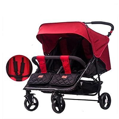 Cochecito de bebé de los gemelos / Cochecitos Dobles tandem Puede sentarse y acostarse Evite las vibraciones Sistemas de viaje Deportes y aire libre Productos Trolley Baby