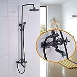 Rozin parete bagno soffione doccia vasca da bagno con doccetta set spray olio strofinato bronzo