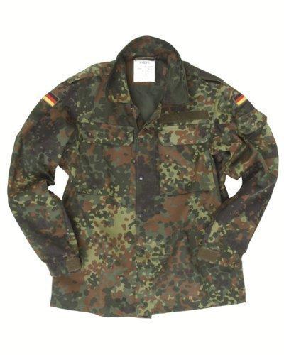 Mil-Tec German Flecktarn Camouflage Pattern Fatigue Field Shirt (44 inch - Short (GR5))