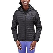 Merrell–Chaqueta con capucha para mujer, chaqueta, mujer, color negro, tamaño large