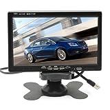 CoCar 7 Zoll Auto PKW LKW Monitor TFT LCD Bildschirm Screen 12-24V für Rückfahrsystem Rückfahrkamera CCTV 2 RCA Kanal Sonnenschirm 800x480 HD Dash Ständer