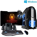 Fierce ULTRA SCHNELLE Vierkern Familie Gaming PC - 4.0GHz AMD A-Series A10-7860K - Gaming, Büro, Familie PC - (WIFI, 8GB RAM, 1TB Festplatte, R7 Serie Grafik) - 218700