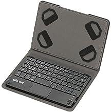 KKmoon 59 Llaves del teclado ultra delgado Thin Mini Touch Pad con Bluetooth plegable magnética del cuero de la PU para Android para 8.7 en Windows Tablet PC Smartphone