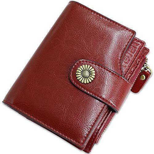 1968f6a06cc1d ... Geldbörse Damen Viele Fächer Kleine Damen Portemonnaie mit  Reißverschluss