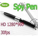 IndiaMart Electronics Wonderpark New Full HD Hidden Pen Camera DVR Audio Video Mini Camera Recorder 1280960 (Silver)
