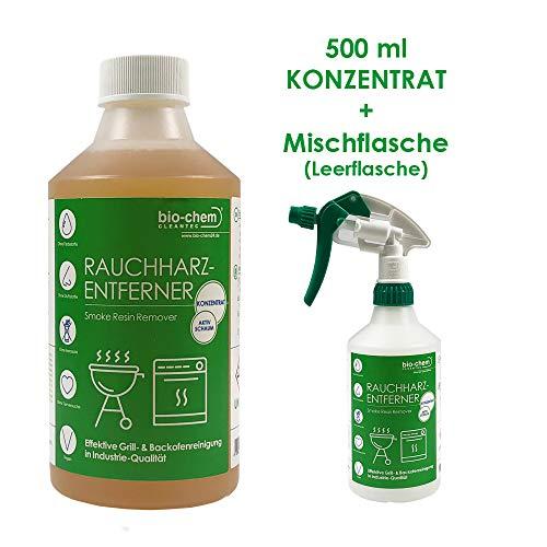 bio-chem Rauchharz-Entferner Grill & Backofenreiniger 500ml Konzentrat bis zu 20 l Reinigungslösung - Reinigung Auto Waffe