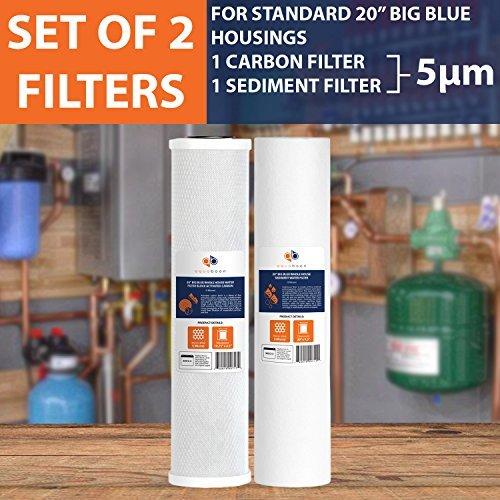 Big Blue CTO Carbon Block und Sediment 50,8x 11,4cm Ersatz Filter Patronen Set