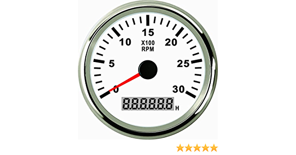 Eling Drehzahlmesser Mit Stundenzähler Für Auto Lkw Boot Yacht 0 3000 U Min 85 Mm Mit Hintergrundbeleuchtung Auto