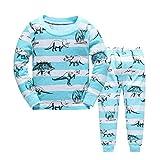 Baby Pyjama Baumwolle Kleinkind Jungen Kinder Dinosaurier Nachtwäsche Blue Nachtwäsche Pyjamas Set 2 Jahre