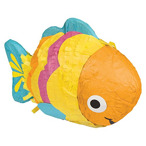 Amscan International - 241745 18 x 10 x 10 cm hawaiano Mini pescado Kit de decoración de mesa