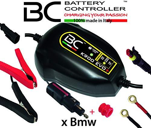 BC Battery Controller BC K900 EVO+, Caricabatteria e Mantenitore Intelligente per Moto BMW con sistema CAN-Bus, e per tutte le batterie 12V Piombo-Acido e Litio, 1 Am