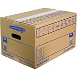 Bankers Box 32 x 26 x 47 cm SmoothMove Cardboard Moving Boxes, Manual Assembly, Pack of 10