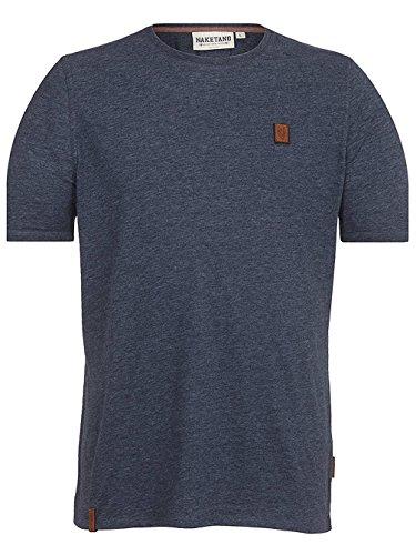 Herren T-Shirt Naketano Italienischer Hengst VI T-Shirt, indigo blue melange, Gr. XXL