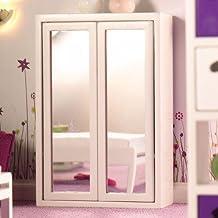 Dolls House Armario de dormitorio blanco Espejo 4928