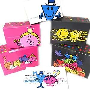 Monsieur Madame [L8913] - Set de 6 boîtes de rangement 'Monsieur Madame' multicolore