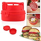 Pinkdose® Red: Stuffed Burger Press Hamburger Grill Bbq Patty Maker Juicy As Seen On Tv Meat Mold Ground Beef Presses Hot Sale