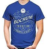 Mein leben Bochum Männer und Herren T-Shirt | Fussball Ultras Geschenk | M1 Front (XXL, Blau)