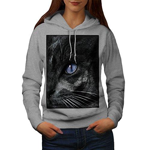 er Auge Katze Frau Kapuzenpullover Süß Beiläufiges mit Kapuze Sweatshirt ()