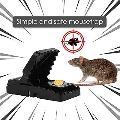 Nasharia 6 Pack Mäusefalle, Schlagfalle Profi Rattenfalle Effektive Mäusemörder Schnappfalle Nagetierbekämpfung Mausfänger Einfach Wiederverwendbare Mäusemörder