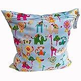 Pannolini borsa guscio sacchetto impermeabile con cerniera impermeabile riutilizzabile Snap maniglia