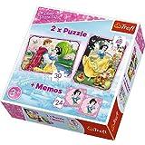 Disney Princess . Weiße Liebe - 2 in 1 + Memos Puzzle - 90603 - Nifaera