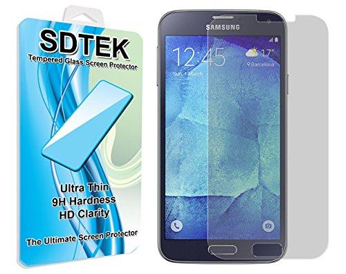 SDTEK Samsung Galaxy S5 / S5 Neo Verre Trempé Protection écran Résistant aux éraflures Glass Screen Protector Vitre Tempered Protecteur