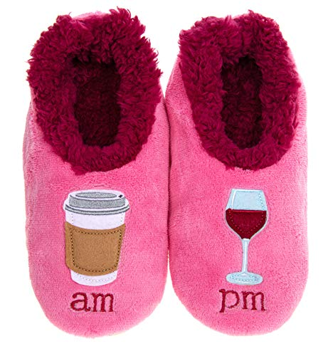 Snoozies Boozies Fun Slippers Soft Non-Slip Sole