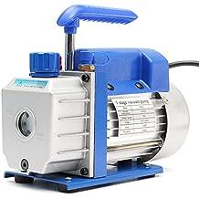 Rishil World 110V 180W 3CFM Single-Stage Rotary Vane Vacuum Pump A/c Air Refrigerant 1/4HP Air Conditioning Tool
