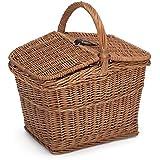 Prestige mimbre cesta de picnic vacío, natural, 40x 30x 47cm