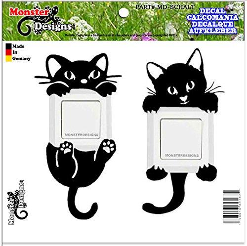 Katzen Wandtattoo Aufkleber für Lichtschalter