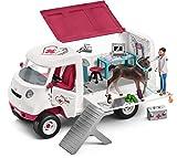 Schleich - 42370 - Kit - Vétérinaire Mobile avec Poulain Hanovrien...