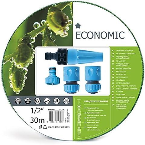 SET di 30 m - tubo da giardino rinforzato + tubo da tutte le stagioni boccalini regolabile - MADE IN EUROPE - minima spesa