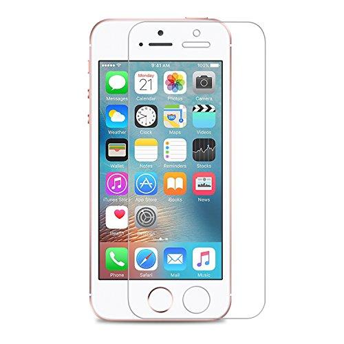 iPhone SE schutzfolie, Danibos 2 x VORDERseite & 2 x RÜCKseite Displayschutzfolie iPhone SE Folie deckt gesamte Front & Edges ab (iPhone SE) - 2